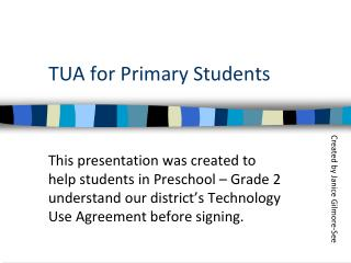 TUA for Primary Students
