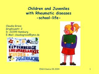Children and Juveniles  with Rheumatic diseases -school-life-