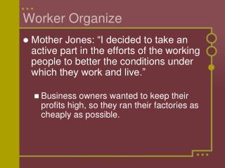 Worker Organize