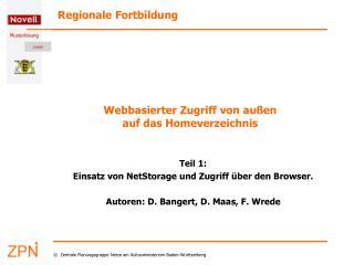 Webbasierter Zugriff von außen auf das Homeverzeichnis