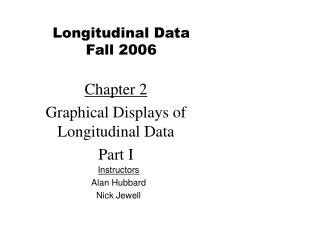 Chapter 2 Graphical Displays of Longitudinal Data  Part I