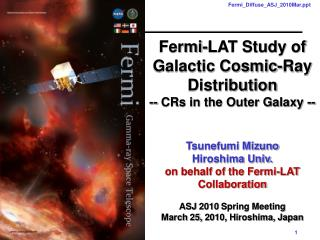 Fermi-LAT Study of Galactic Cosmic-Ray Distribution -- CRs in the Outer Galaxy -- Tsunefumi Mizuno