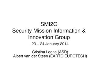 SMI2G  Security Mission Information & Innovation Group