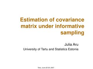 Estimation of  covariance matrix under informative sampling