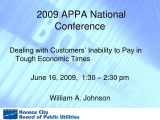 2009 APPA National Conference