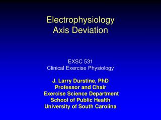 Electrophysiology Axis Deviation