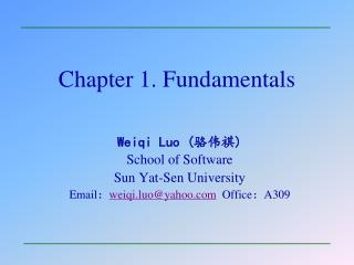Chapter 1. Fundamentals