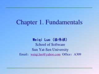 Chapter 1. Fundamentals