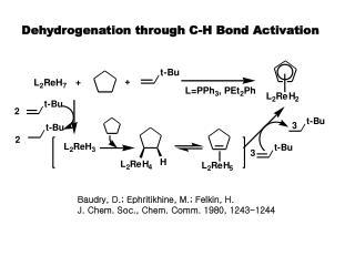 Dehydrogenation through C-H Bond Activation