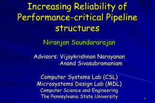Increasing Reliability of Performance-critical Pipeline structures