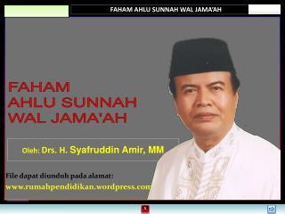 FAHAM AHLU SUNNAH WAL JAMA'AH