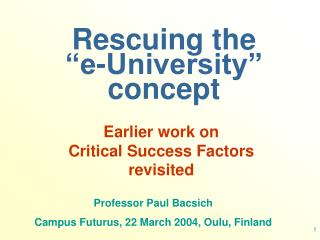 "Rescuing the   ""e-University"" concept"