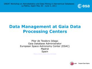 Data Management at Gaia Data Processing Centers