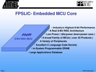 FPSLIC- Embedded MCU Core