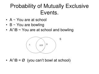 Probability of Mutually Exclusive Events.