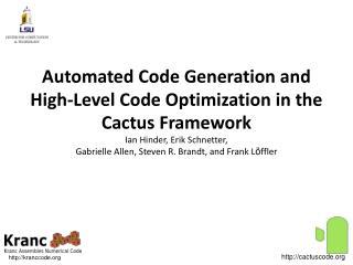 The Cactus Framework