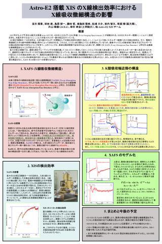 Astro-E2  搭載  XIS  の X 線検出効率における X 線吸収微細構造の影響