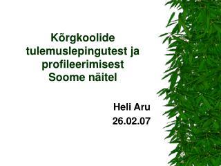 Kõrgkoolide tulemuslepingutest ja profileerimisest Soome näitel