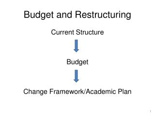Budget and Restructuring