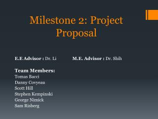 Milestone 2: Project Proposal