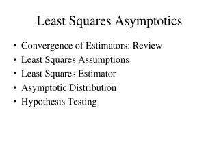 Least Squares Asymptotics