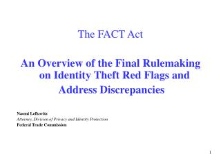 The FACT Act   An Overview