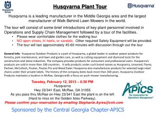 Sponsored by the Central Georgia Chapter-APICS