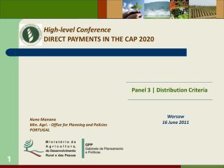 High-level Conference DIRECT PAYMENTS IN THE CAP 2020