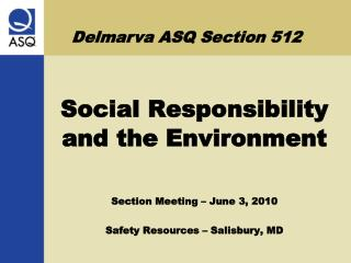 Delmarva ASQ Section 512