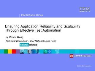 Ensuring Application Reliability and Scalability Through Effective Test Automation