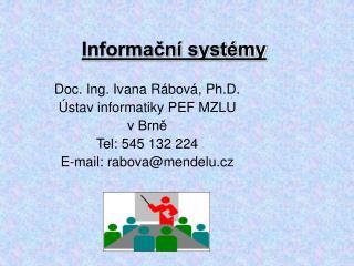 Informační systémy
