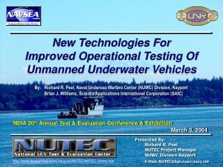 Naval Sea Systems Command Naval Undersea Warfare Center