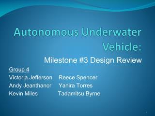Autonomous Underwater Vehicle: