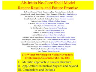 Ab-Initio No-Core Shell Model Recent Results and Future Promise