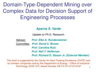Domain-Type-Dependent Mining over Complex Data for Decision Support of Engineering Processes