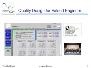 Quality Design for Valued Engineer