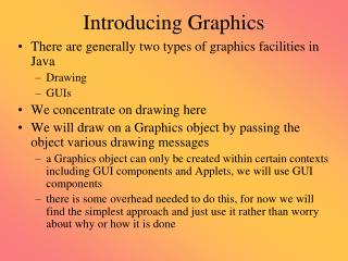 Introducing Graphics