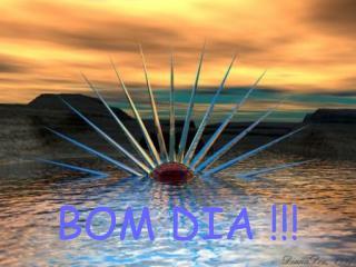 BOM DIA !!!