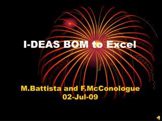 I-DEAS BOM to Excel