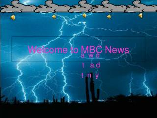 Welcome to MBC News