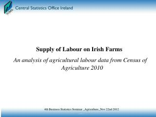 Supply of Labour on Irish Farms