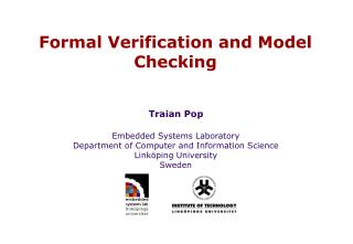 Formal Verification and Model Checking