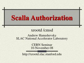 Scalla Authorization