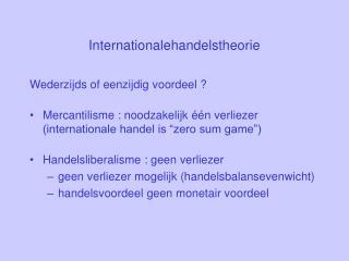 Internationalehandelstheorie