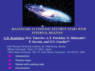 MAGNETARS AS COOLING NEUTRON STARS WITH     INTERNAL HEATING