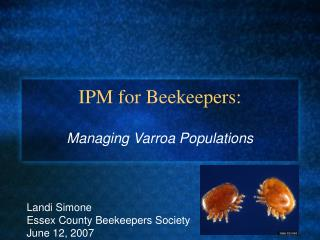 IPM for Beekeepers:
