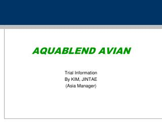 AQUABLEND AVIAN