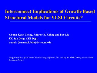 Interconnect Implications of Growth-Based Structural Models for VLSI Circuits*