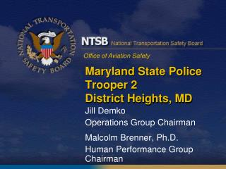 Maryland State Police Trooper 2 District Heights, MD