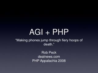 AGI + PHP